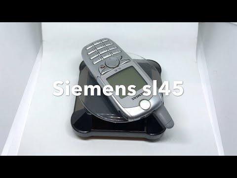 Siemens Sl45, Silver, Unlocked, Rare Mobile Phone, 100% Original, First Phone With Mp3