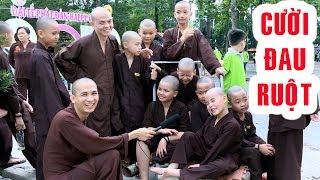 Gambar cover CƯỜI ĐAU RUỘT những câu trả lời rất BÁ ĐẠO của 200 chú Tiểu tu tập tại chùa Hoằng Pháp.