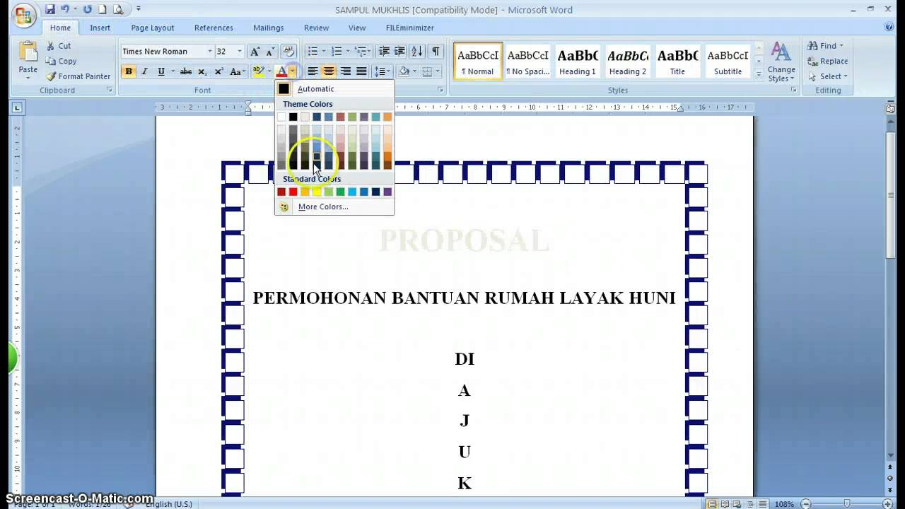 Make Cover Cara Membuat Cover Proposal Youtube
