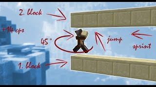The Andromeda Method - The fastest bridging technique in Minecraft. (placing up to 14 blocks/sec)