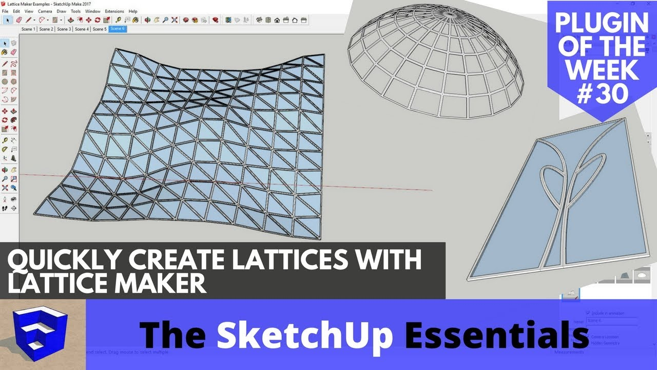 Quickly Create Lattices in SketchUp with Lattice Maker