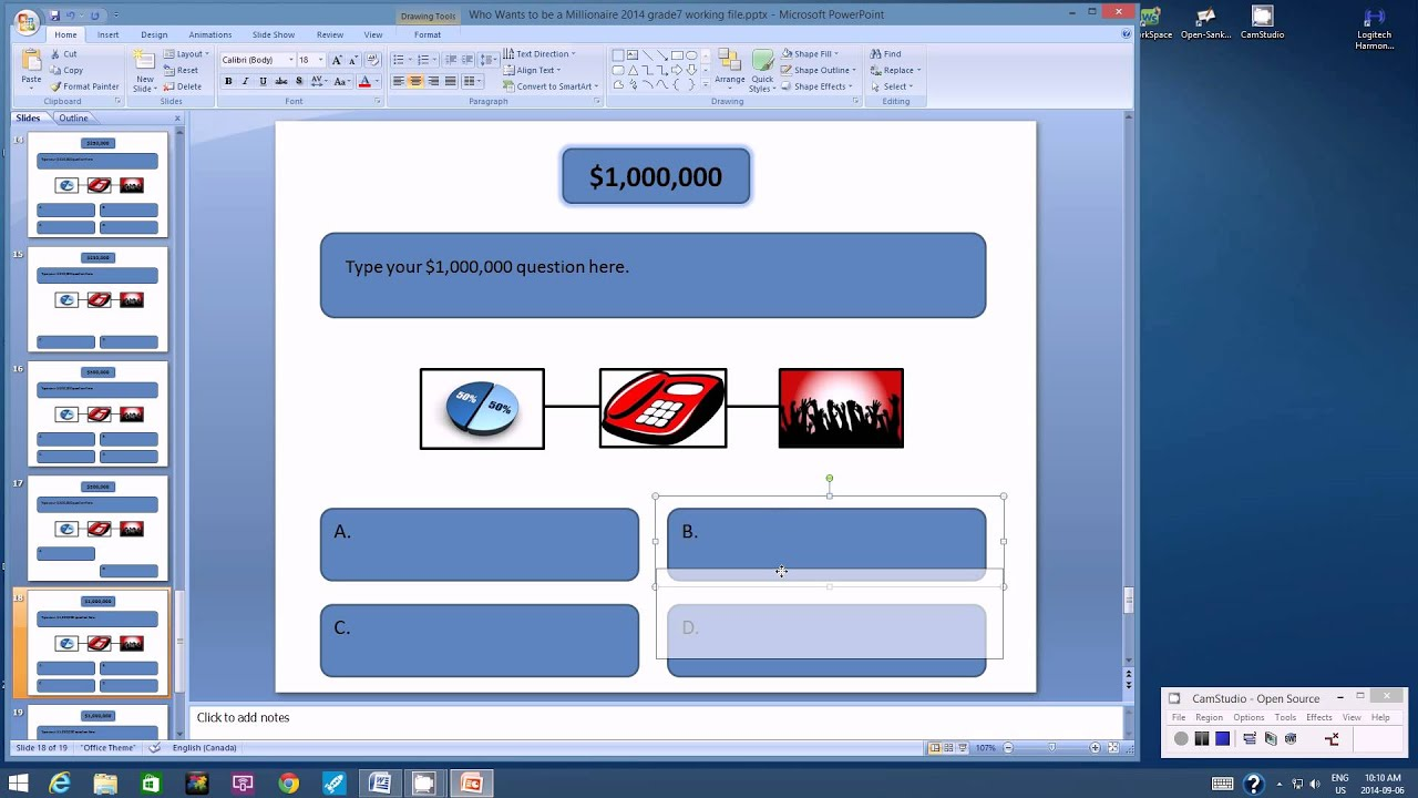 using microsoft powerpoint to create a millionaire game show part2 youtube