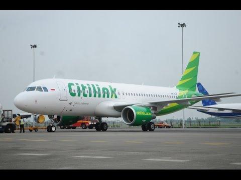 4K Video : Flight Pesawat Citilink Bandung - Pekanbaru