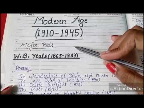 ENGLISH LITERATURE || MODERN AGE || MAJOR WRITERS AND THEIR WORKS || PART - 1