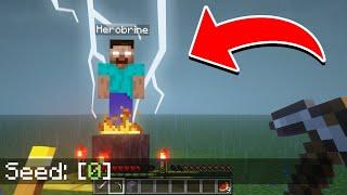 SECRETOS DE LA SEMILLA 0 BLOQUEADA POR MOJANG en Survival | Minecraft