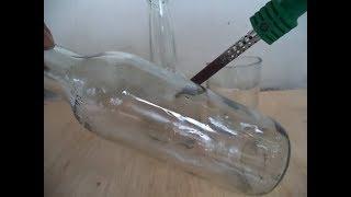 Cara memotong botol kaca pakek solder. Kok bisa.! begini caranya