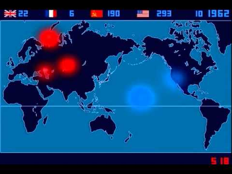 A TimeLapse Map of Every Nuclear Explosion Since 1945 by Isao