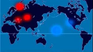 A Time-Lapse Map of Every Nuclear Explosion Since 1945 - by  Isao Hashimoto thumbnail