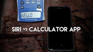 Siri Calculator VS Calculator App - Plus a hidden calculator