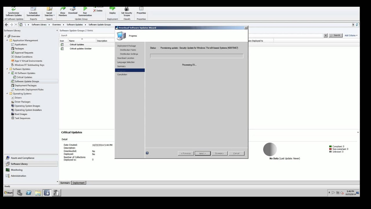 Deploying Windows Software Updates SCCM 2012