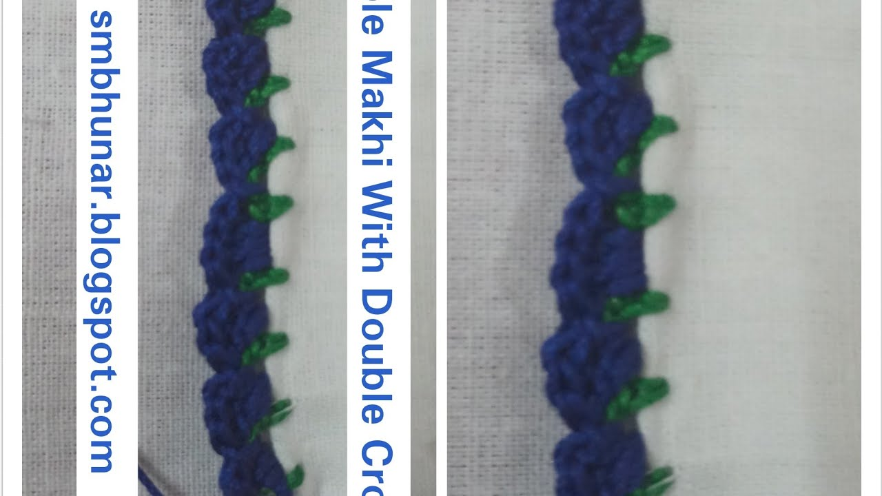 Double Makkhi With Double Crochet Design 2 Youtube