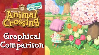 Animal Crossing New Horizons Graphical Comparison