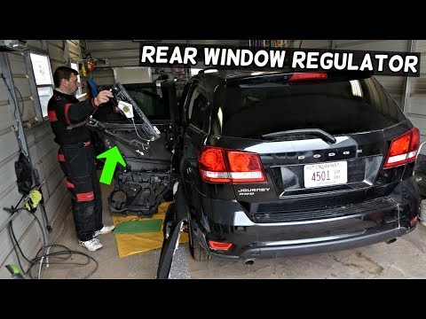 DODGE JOURNEY REAR WINDOW REGULATOR REPLACEMENT REMOVAL. FIAT FREEMONT