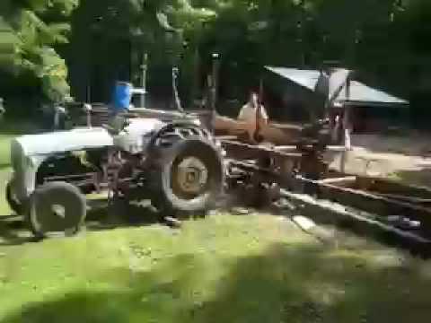 Homemade sawmill II - YouTube