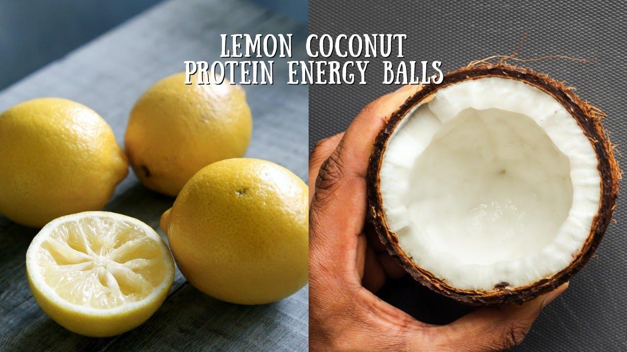 Coconut + Lemon Protein Energy Balls