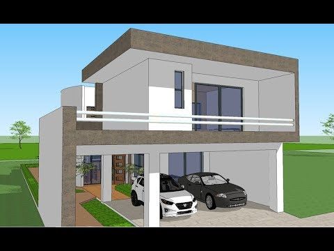 Plano casa 10x25 metros youtube for Casas minimalistas pequenas