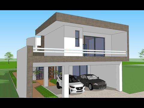 Plano casa 10x25 metros youtube for Casas minimalistas planos