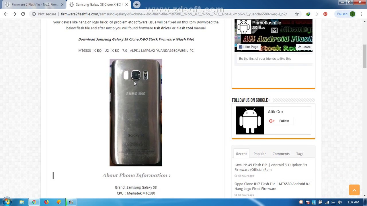 Samsung Clone Note 8 Flash File Firmware MT6580 Android 51