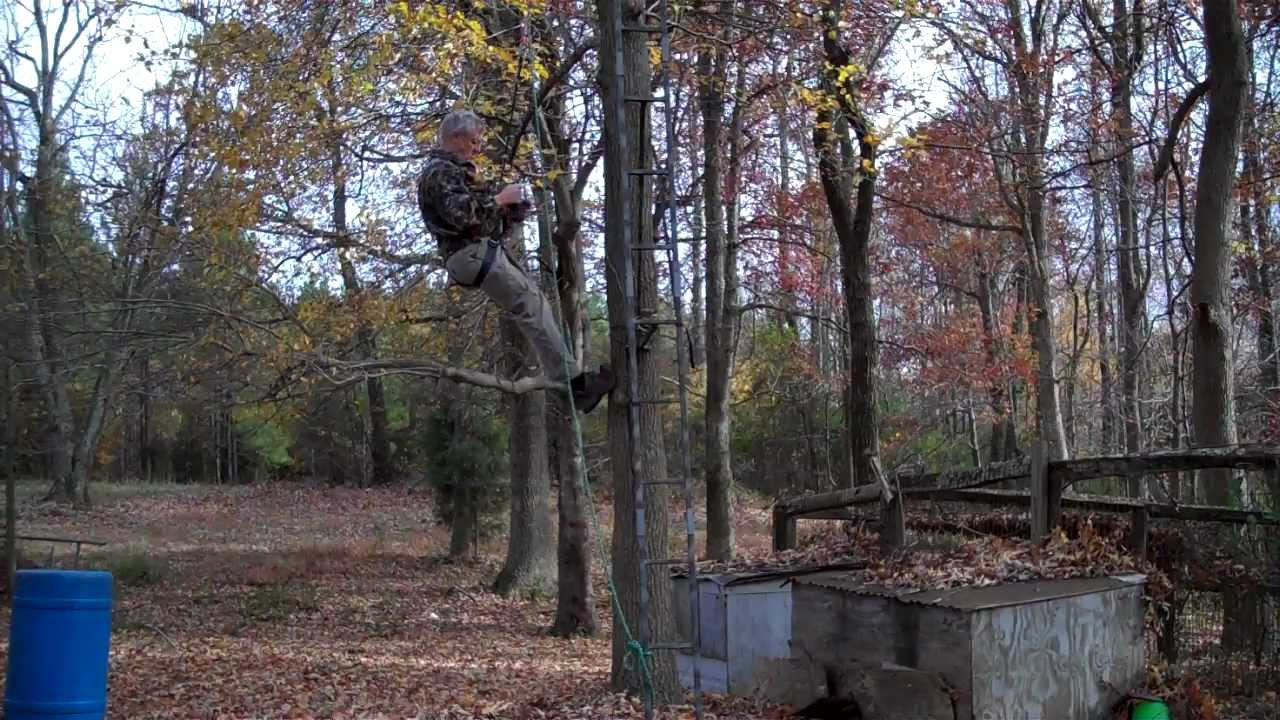 Climbing Harness Treestand Self Rescue Youtube