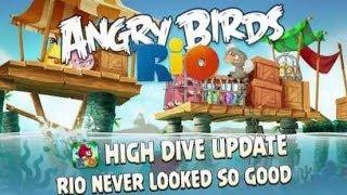 Angry Birds Rio 2 - High Dive Walkthrough Bonus Level All Stars