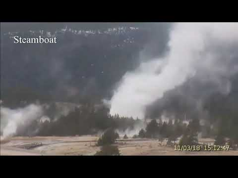Steamboat Geyser Went Off Five times@Yellowstone Oct 3, 2018