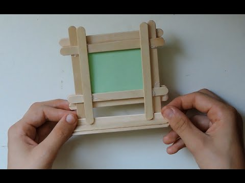 How To Make A DIY Picture Frame From Popsicle Sticks. (Full HD)