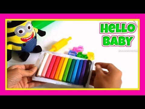 Play Doh_Đất nặn tạo hình đa sắc màu_Chơi Đồ Chơi Dat Nan Với Minion(Tập 1)| Hello BABY!!!