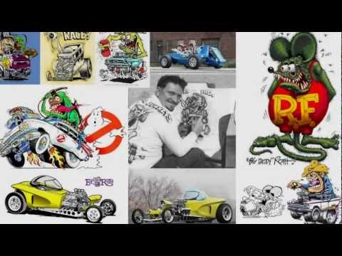 Timelapse - Cartoonist Vince O'Farrell pays homage to Ed Roth