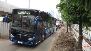 mencoba Bus Listrik di jalan Jakarta! gimana rasanya? MAB (Mobil Anak Bangsa) prototype kedua