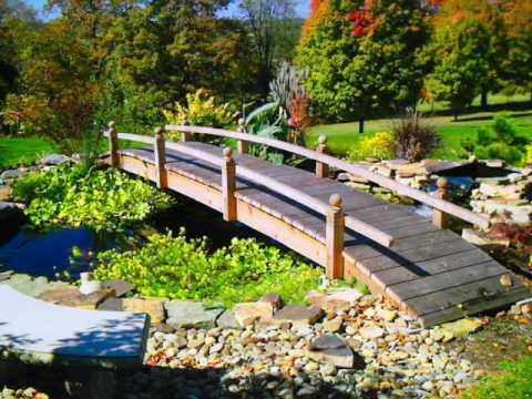 Landscaping Bridges Garden bridges for landscaped yards ...