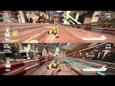 wipeout omega collection split screen gameplay 2. Black Bedroom Furniture Sets. Home Design Ideas