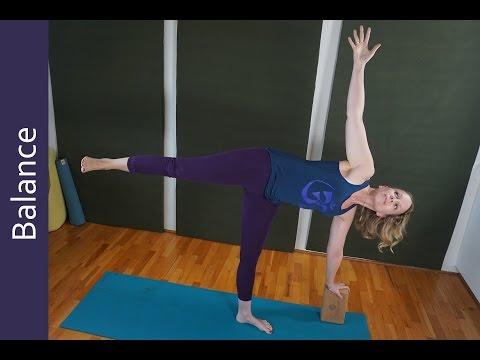 How to Balance in Half Moon Balancing Pose : Episode #360
