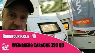 Vorstellung Roomtour Weinsberg CaraOne 390 QD Edition Hot | Happy Camping