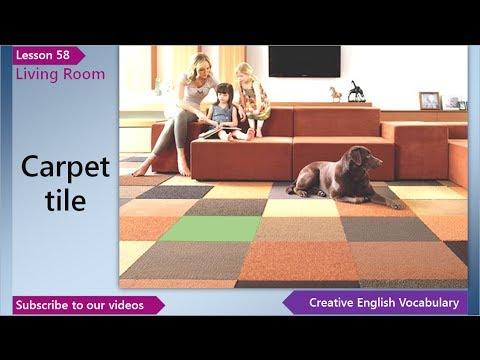 Living Room Vocabulary learn english - english vocabulary lesson 58 - living room | free