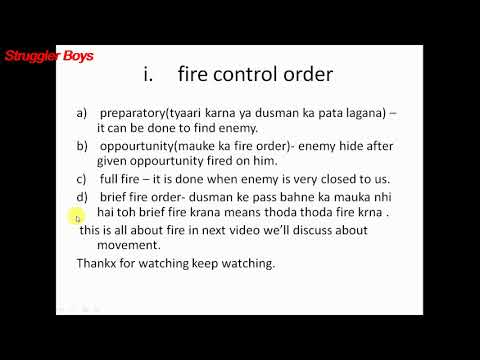 Ncc B certificate exam preparation filed and battle craft type 4 fire and movement