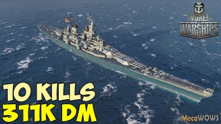 World of WarShips   Missouri   10 KILLS   311K Damage - Replay Gameplay 4K 60 fps