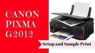 Canon Pixma G2012 Setup & Sample Print
