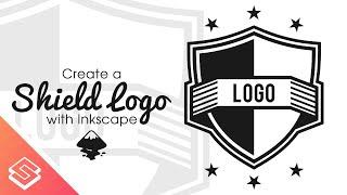 Inkscape Tutorial: Shield Logo