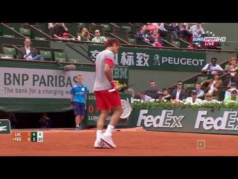 Roland Garros 2014 Roger Federer - Lukas Lacko