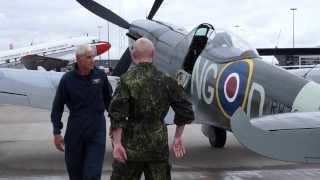 Roskilde Airshow 2013 - Supermarine Spitfire - the flight