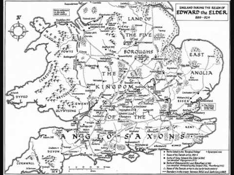 Ancient Maps - Reign of Edward the Elder c 899 - 924