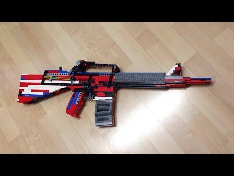 LEGO Full & Semi-Automatic Rubber Band Gun - M4a1