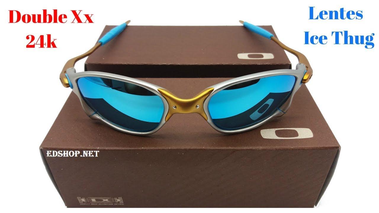 caad17b7b1e48 Óculos Double Xx 24k Lentes Ice Thug - YouTube