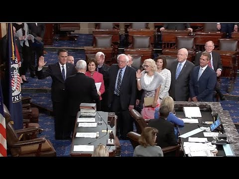 Sen. Sanders Sworn In To Third Term In The US Senate