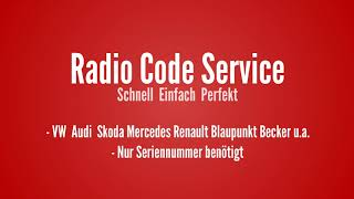 Download Audi Radio Code Serial Number Pin Unlock A3 A4 A5 A6 MP3