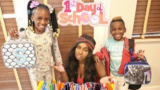 YAYA'S AND DJ'S FIRST DAY OF SCHOOL
