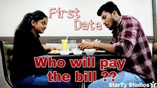 First Date - Who will pay the bill ?? | Girliyapa | hindi short film 2018
