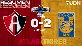 Resumen y goles | Atlas 0-2 Tigres | Torneo Guard1anes 2021 BBVA MX - J2 | TUDN