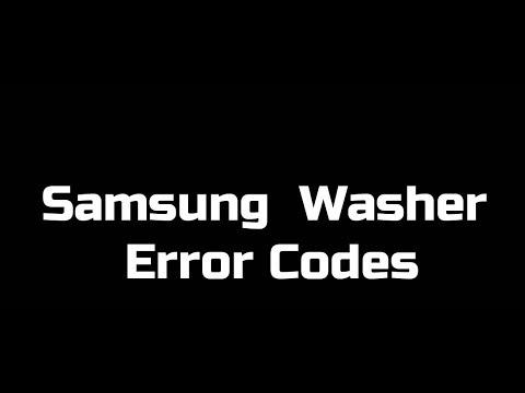 Samsung Washer Error Codes for Front-Load Models
