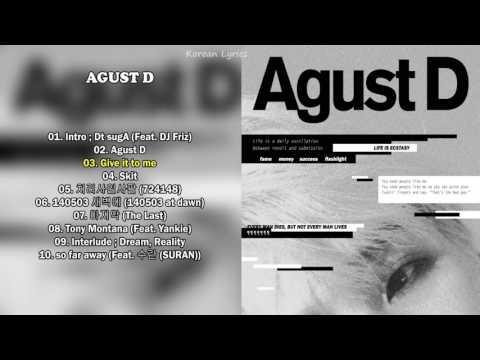 Agust D ' -  SUGA 1ST MIXTAPE FULL ALBUM